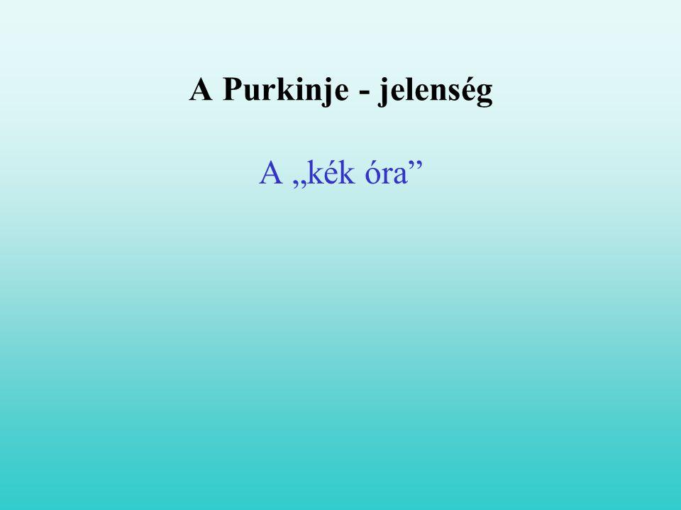 "A Purkinje - jelenség A ""kék óra"