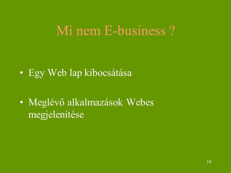 Mi nem E-business Egy Web lap kibocsátása