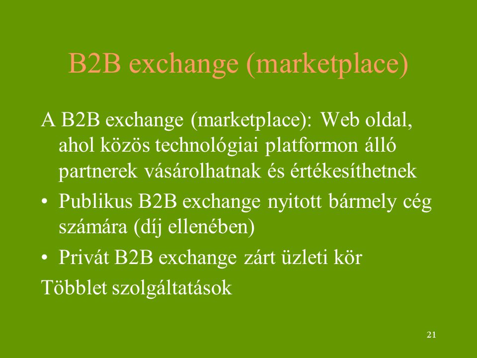 B2B exchange (marketplace)