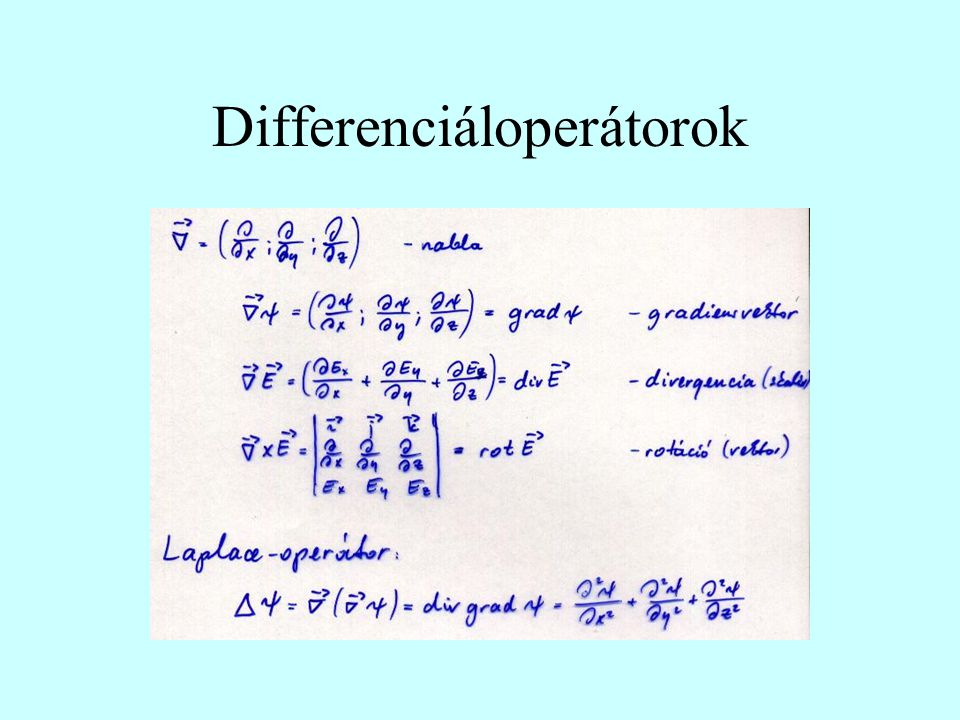 Differenciáloperátorok