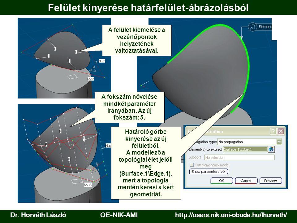 Felület kinyerése határfelület-ábrázolásból