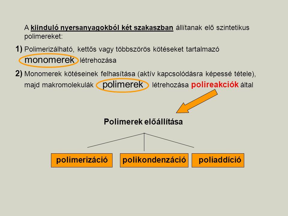 Polimerek előállítása