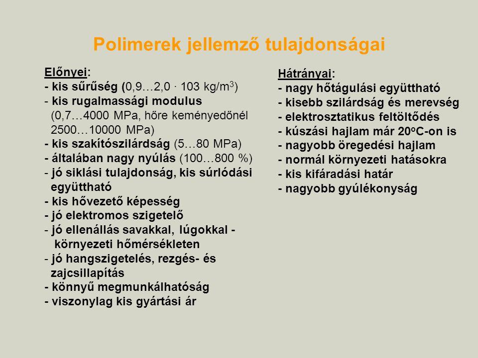 Polimerek jellemző tulajdonságai