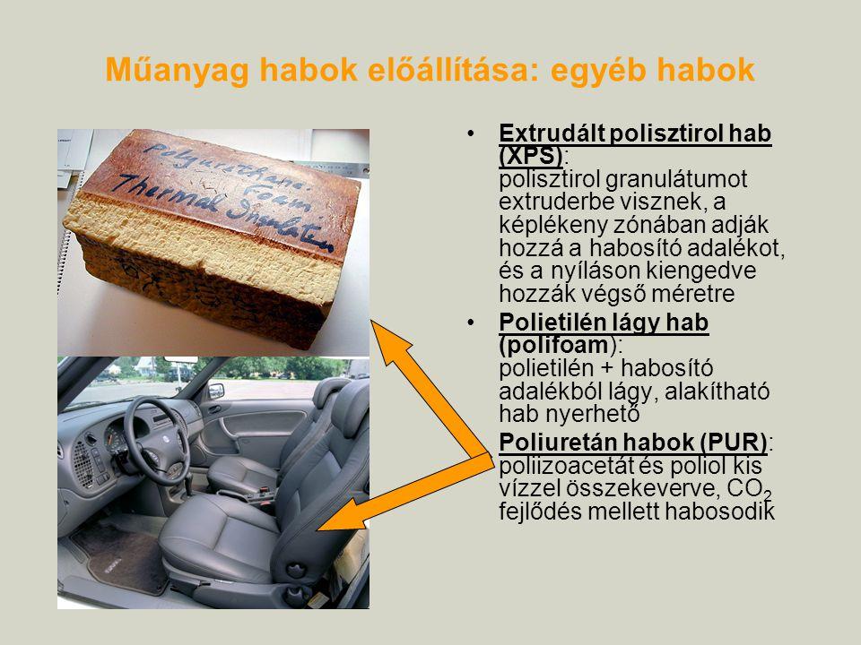 Műanyag habok előállítása: egyéb habok