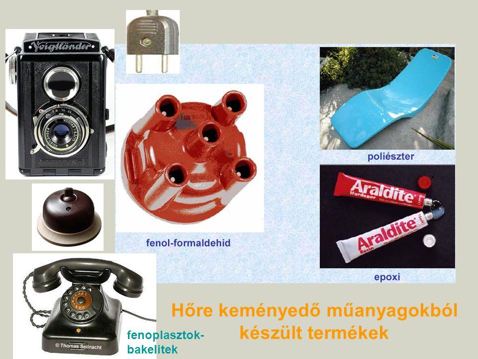 Hőre keményedő műanyagokból készült termékek