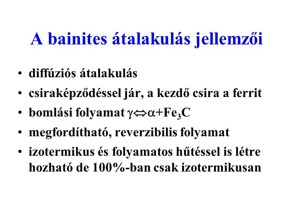 A bainites átalakulás jellemzői