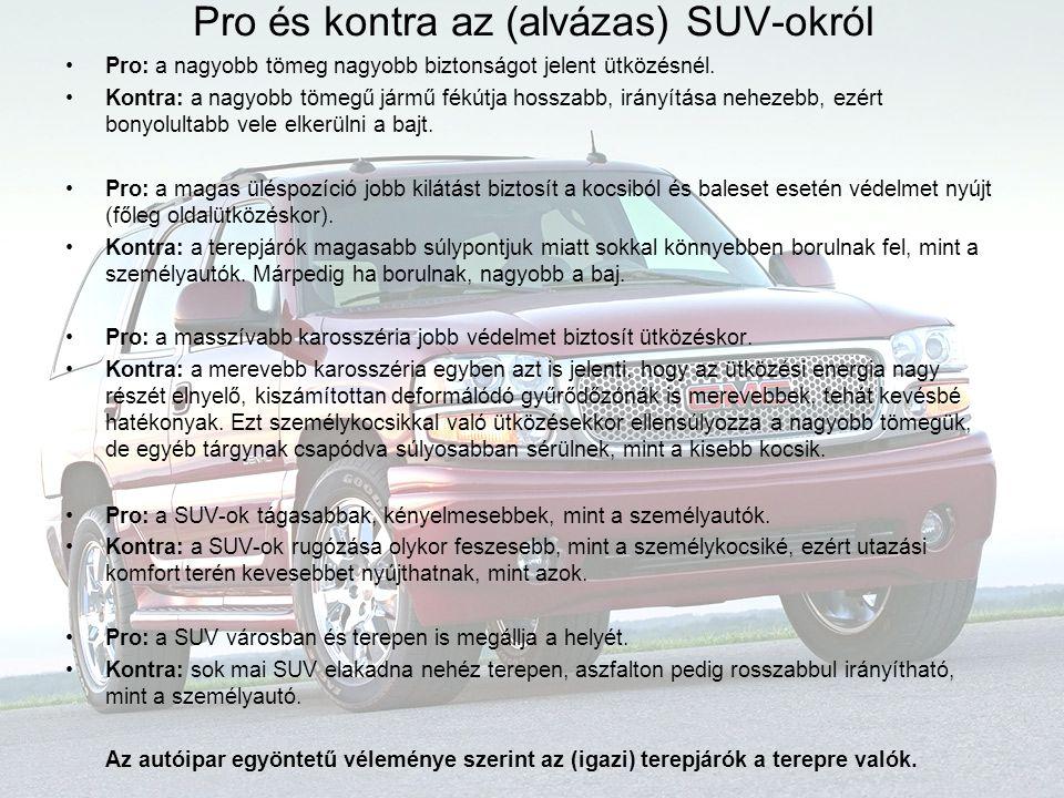 Pro és kontra az (alvázas) SUV-okról