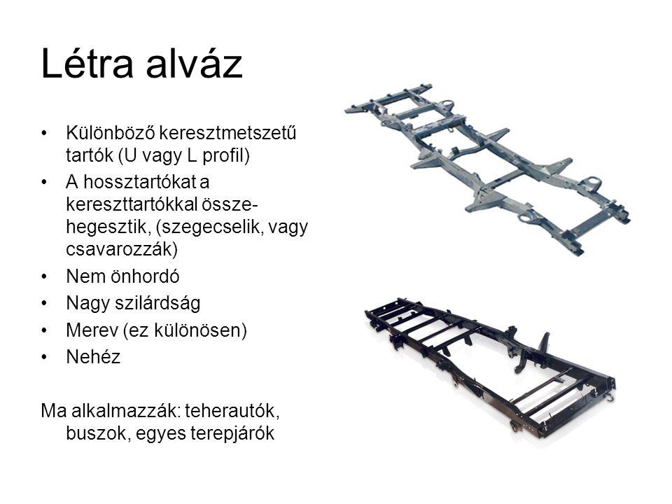 Létra alváz Különböző keresztmetszetű tartók (U vagy L profil)