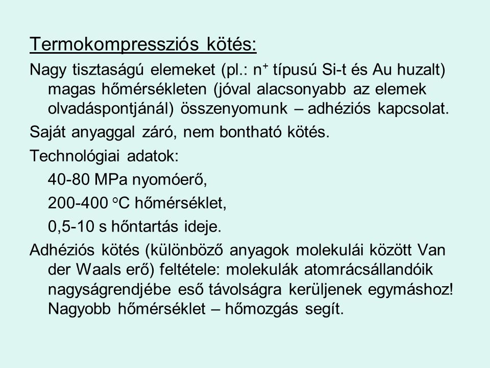 Termokompressziós kötés: