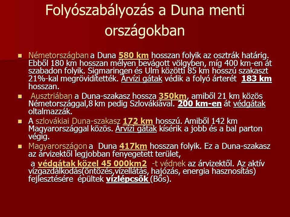 Folyószabályozás a Duna menti országokban