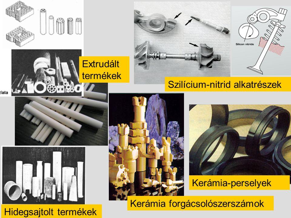 Extrudált termékek Szilícium-nitrid alkatrészek. Kerámia-perselyek. Kerámia forgácsolószerszámok.
