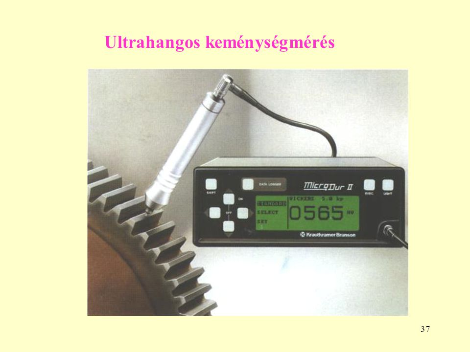 Ultrahangos keménységmérés