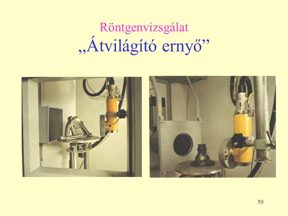 """Röntgenvizsgálat """"Átvilágító ernyő"""