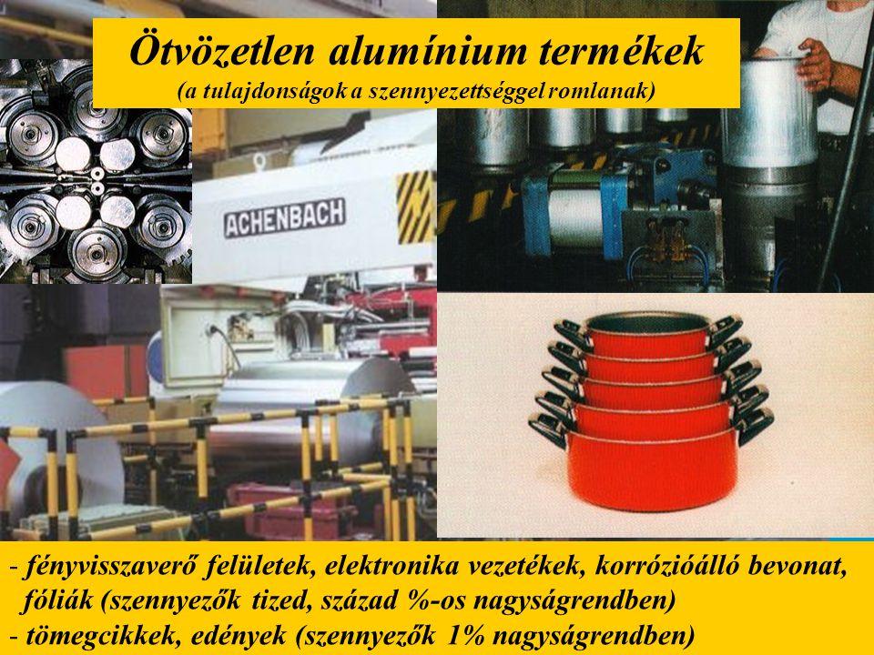 Ötvözetlen alumínium termékek