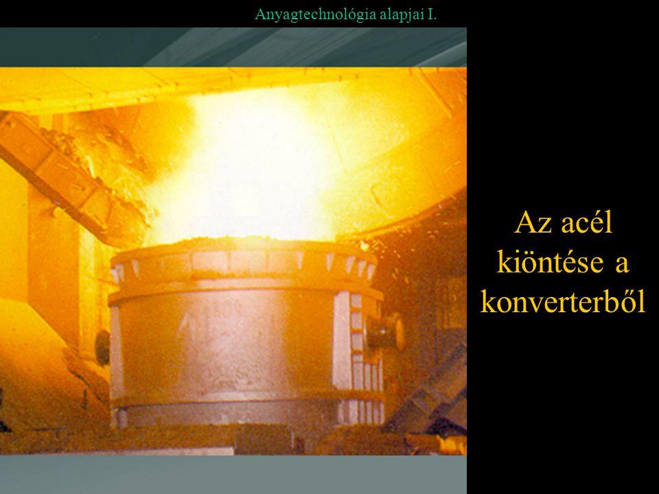 Az acél kiöntése a konverterből