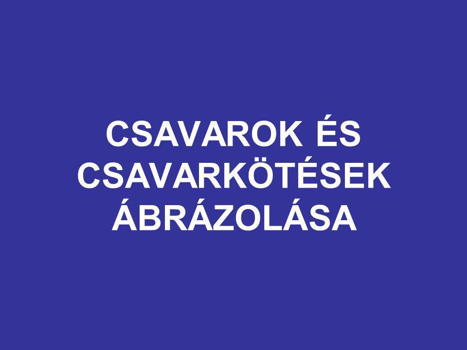 CSAVAROK ÉS CSAVARKÖTÉSEK ÁBRÁZOLÁSA
