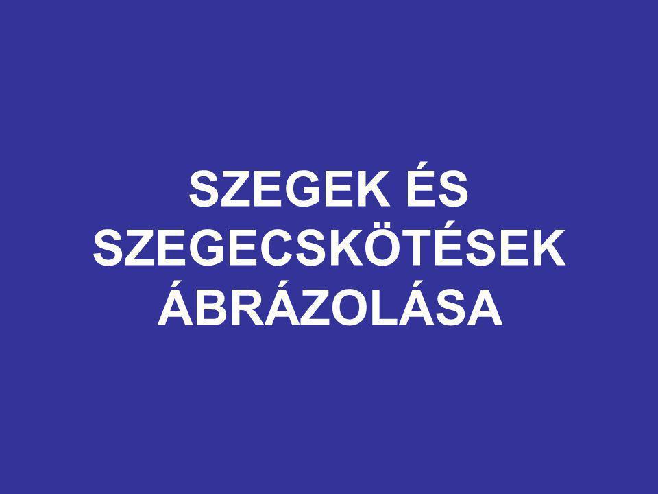 SZEGEK ÉS SZEGECSKÖTÉSEK ÁBRÁZOLÁSA