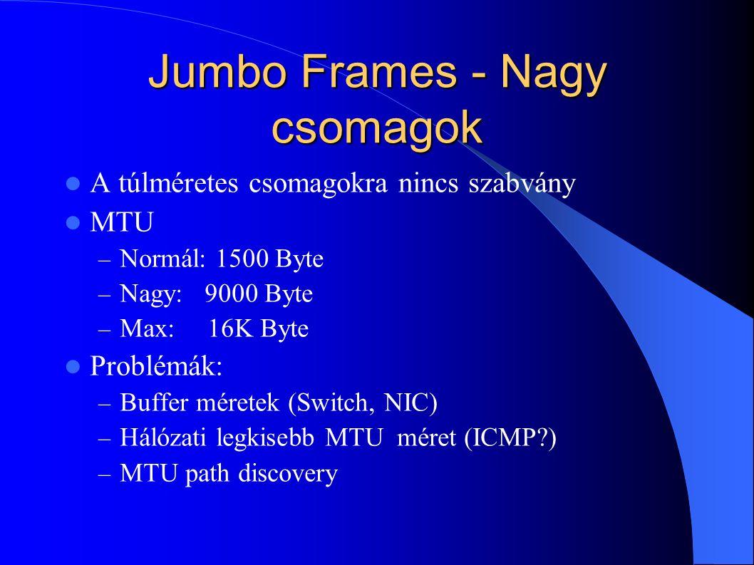 Jumbo Frames - Nagy csomagok