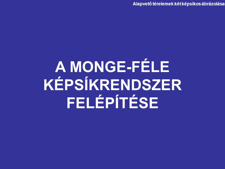 A MONGE-FÉLE KÉPSÍKRENDSZER FELÉPÍTÉSE
