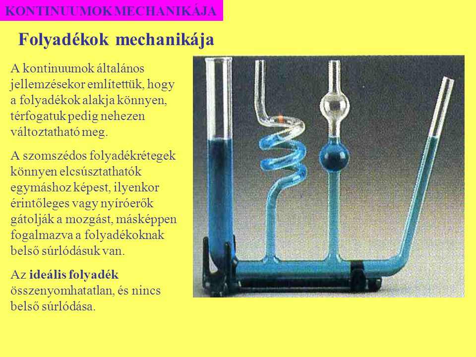 Folyadékok mechanikája