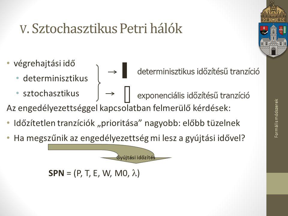 V. Sztochasztikus Petri hálók