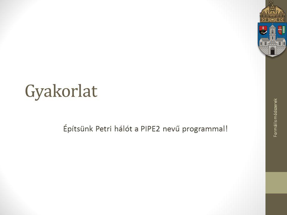 Építsünk Petri hálót a PIPE2 nevű programmal!