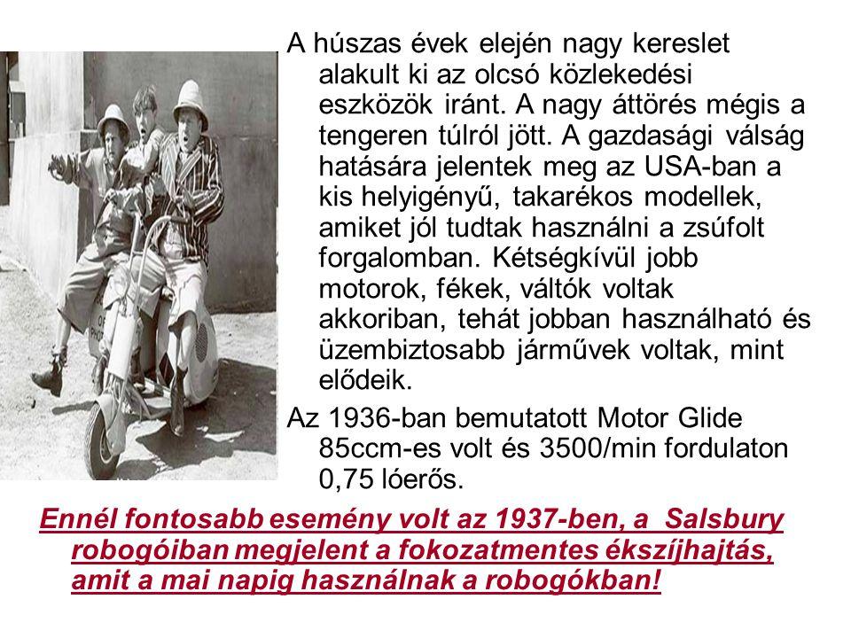 A húszas évek elején nagy kereslet alakult ki az olcsó közlekedési eszközök iránt. A nagy áttörés mégis a tengeren túlról jött. A gazdasági válság hatására jelentek meg az USA-ban a kis helyigényű, takarékos modellek, amiket jól tudtak használni a zsúfolt forgalomban. Kétségkívül jobb motorok, fékek, váltók voltak akkoriban, tehát jobban használható és üzembiztosabb járművek voltak, mint elődeik.