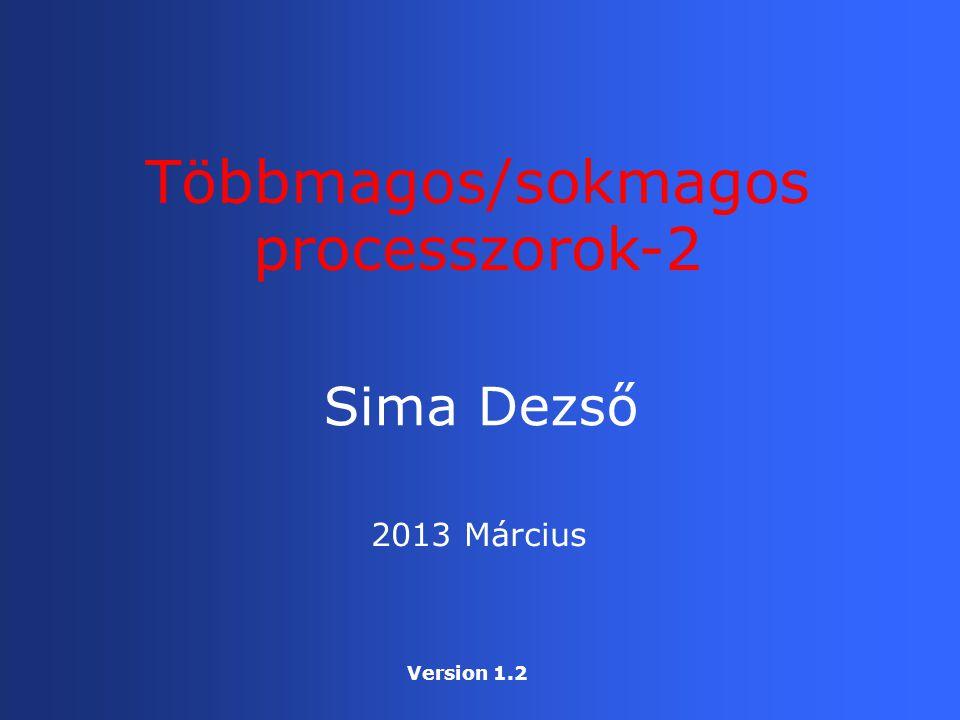 Többmagos/sokmagos processzorok-2