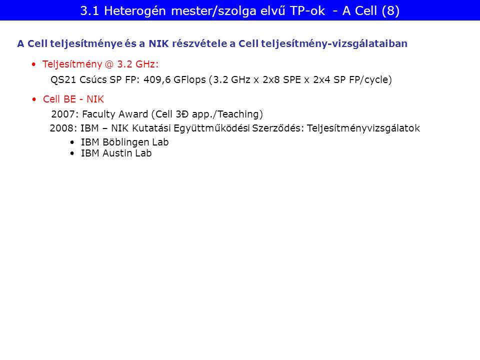3.1 Heterogén mester/szolga elvű TP-ok - A Cell (8)