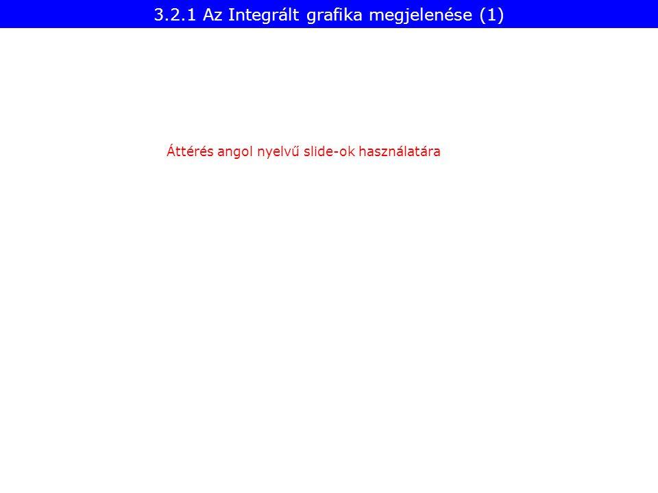 3.2.1 Az Integrált grafika megjelenése (1)
