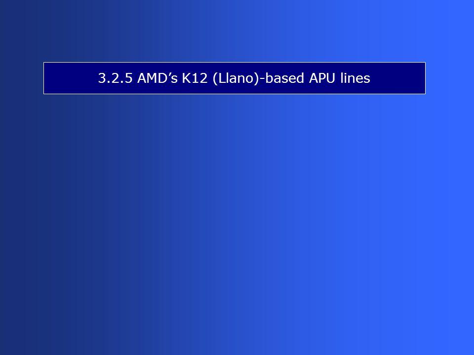 3.2.5 AMD's K12 (Llano)-based APU lines