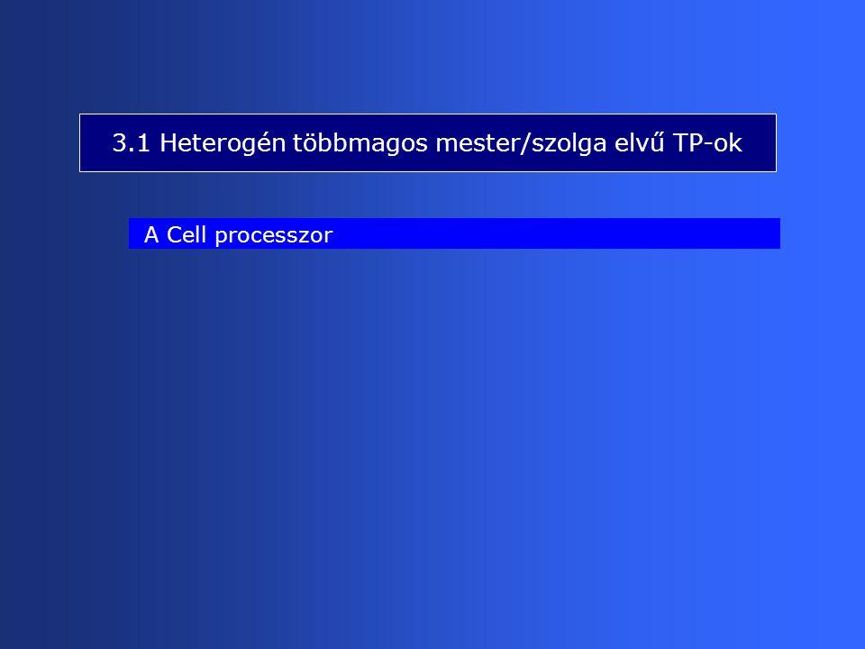 3.1 Heterogén többmagos mester/szolga elvű TP-ok