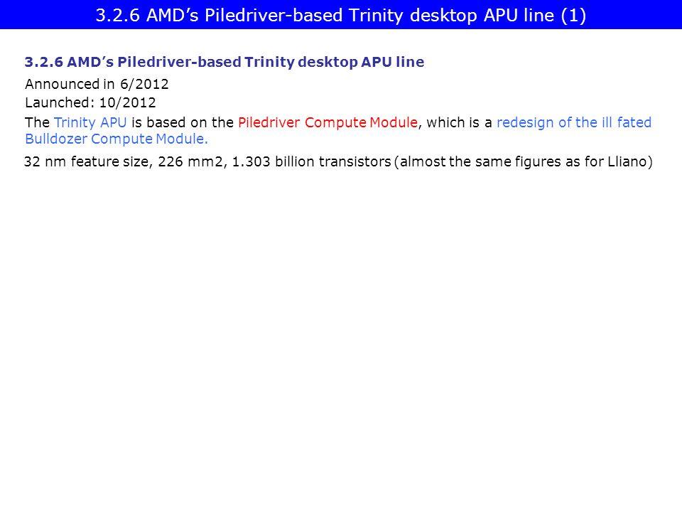3.2.6 AMD's Piledriver-based Trinity desktop APU line (1)