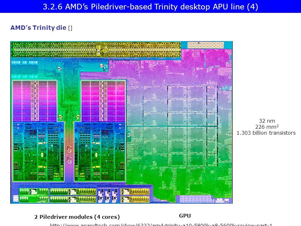 2 Piledriver modules (4 cores)