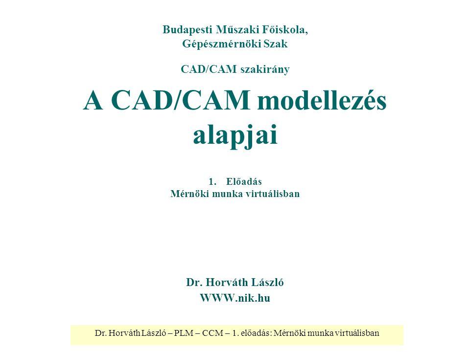 A CAD/CAM modellezés alapjai