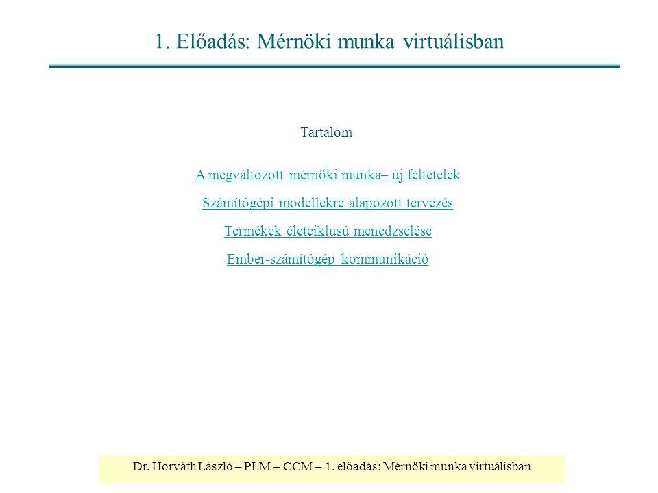 1. Előadás: Mérnöki munka virtuálisban
