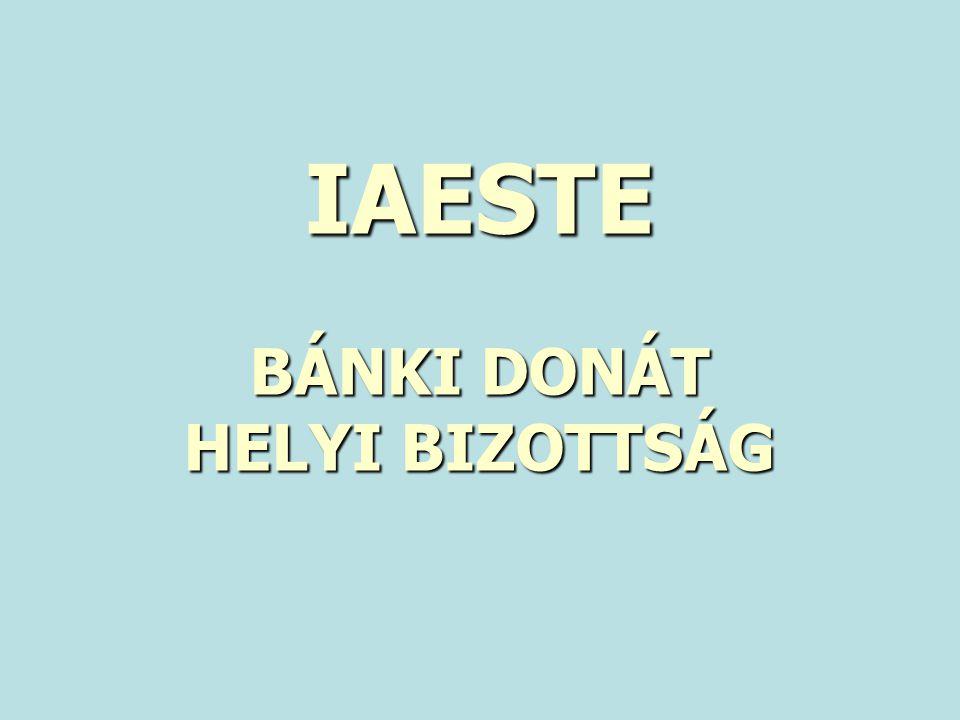 IAESTE BÁNKI DONÁT HELYI BIZOTTSÁG