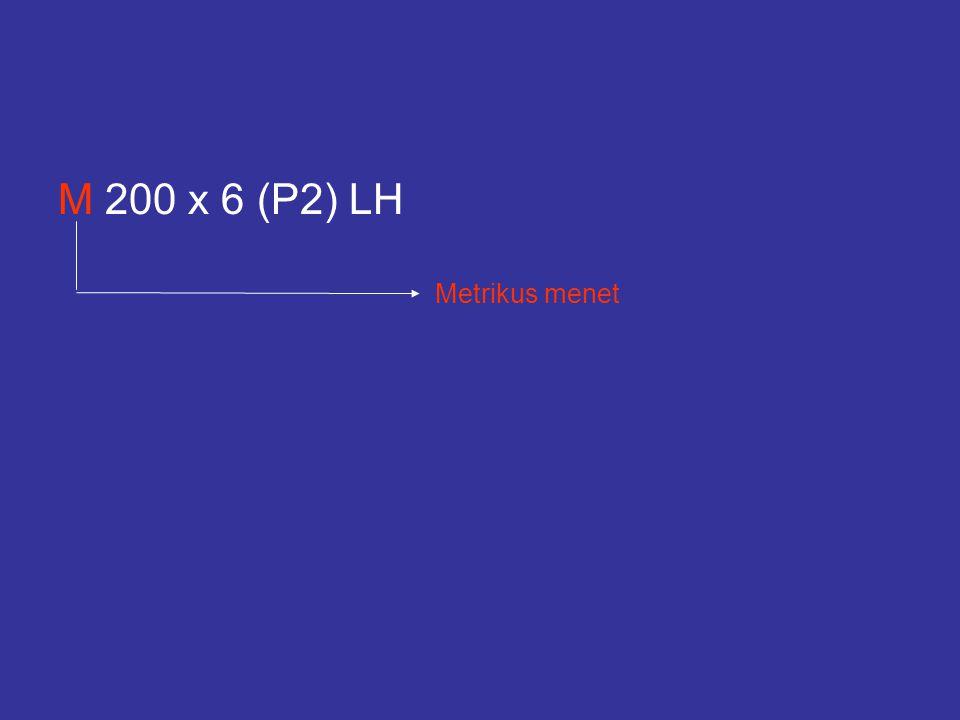 M 200 x 6 (P2) LH Metrikus menet