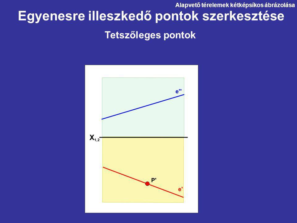 Egyenesre illeszkedő pontok szerkesztése