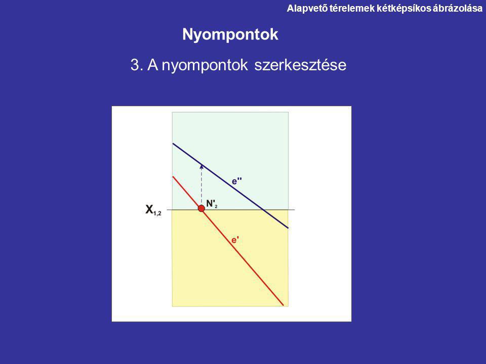 3. A nyompontok szerkesztése