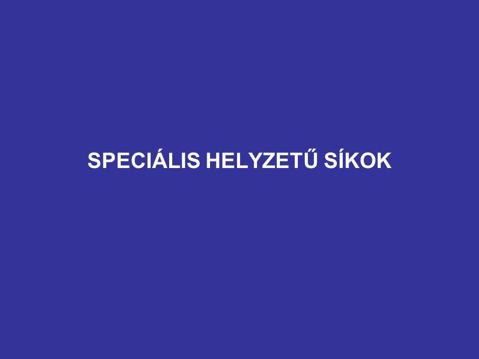 SPECIÁLIS HELYZETŰ SÍKOK