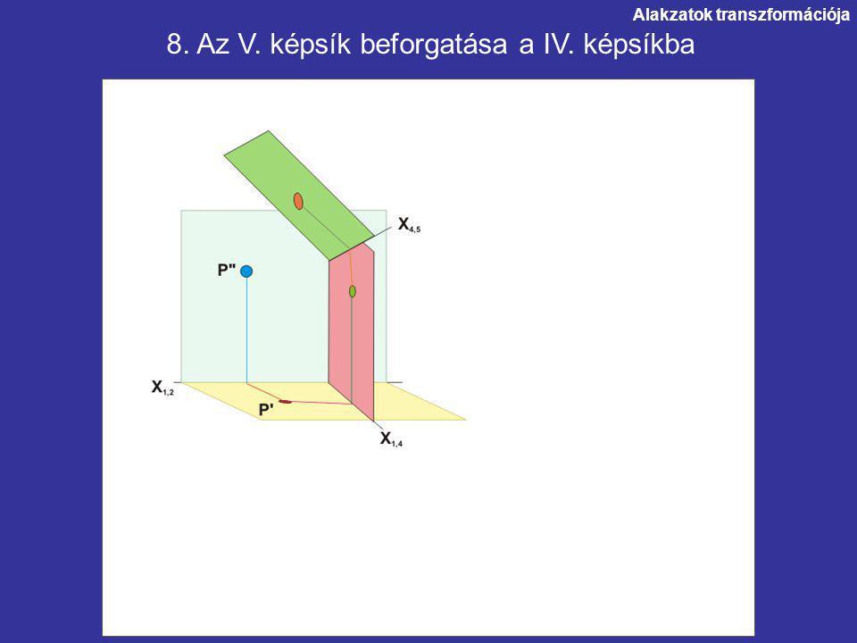 8. Az V. képsík beforgatása a IV. képsíkba