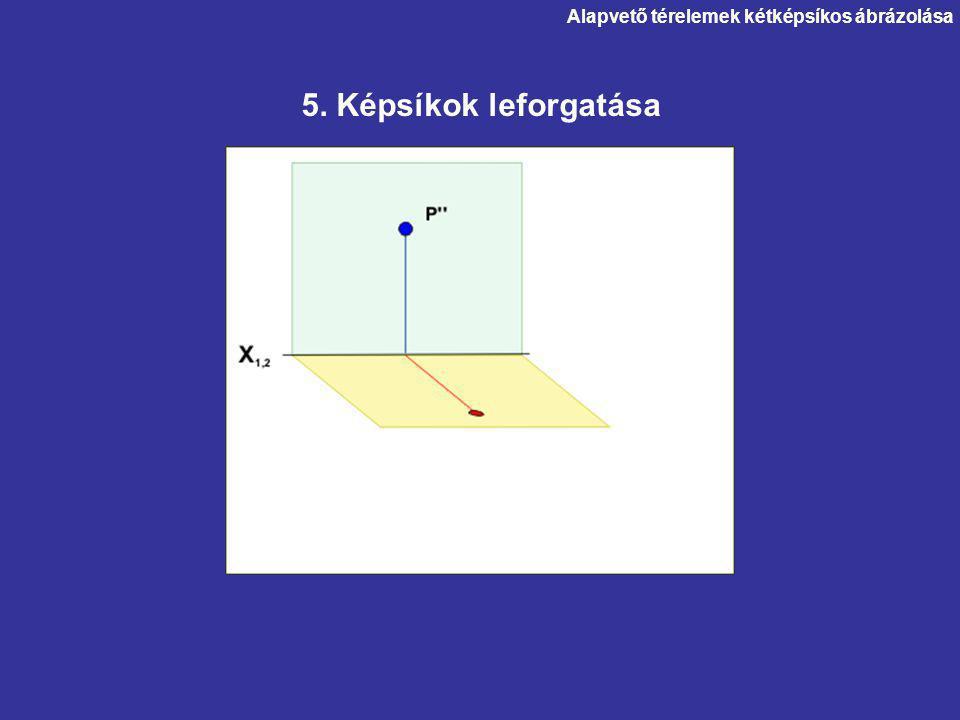 Alapvető térelemek kétképsíkos ábrázolása