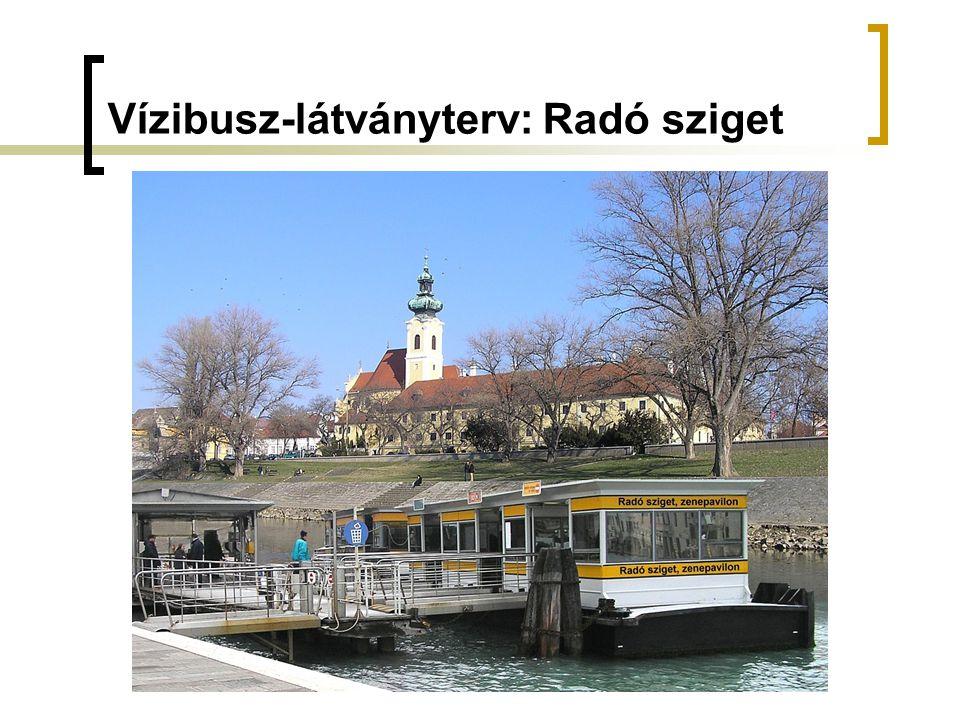 Vízibusz-látványterv: Radó sziget