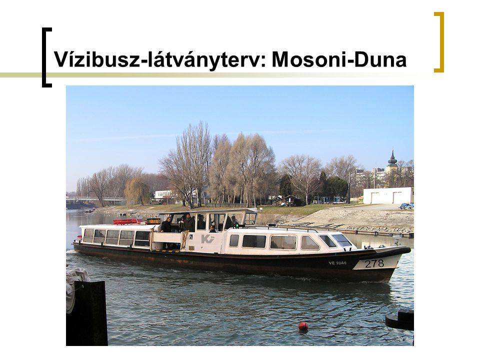 Vízibusz-látványterv: Mosoni-Duna
