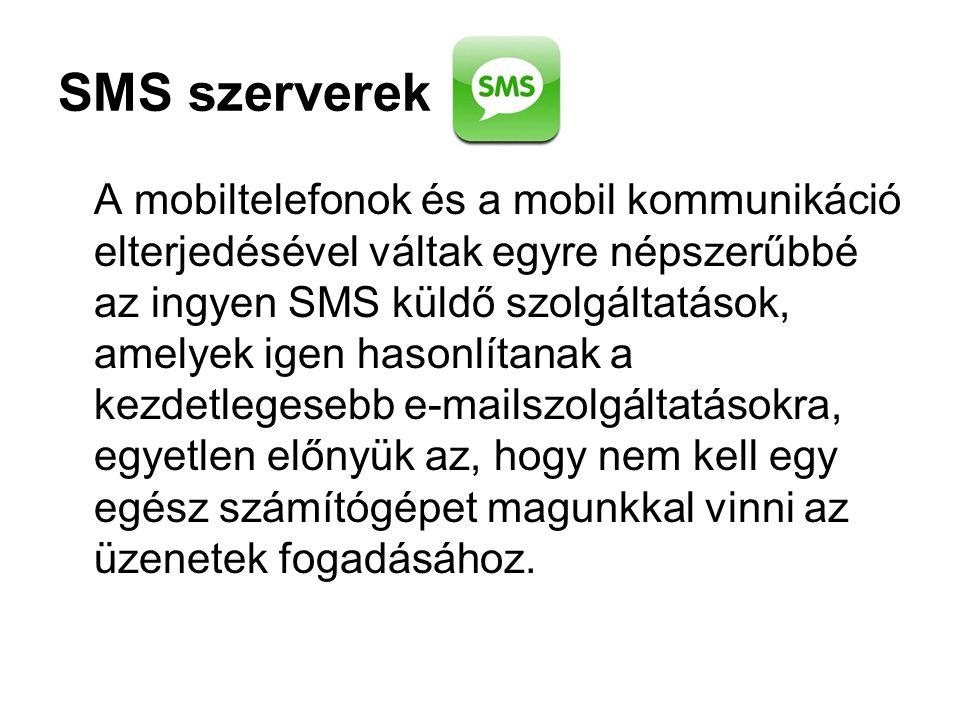 SMS szerverek