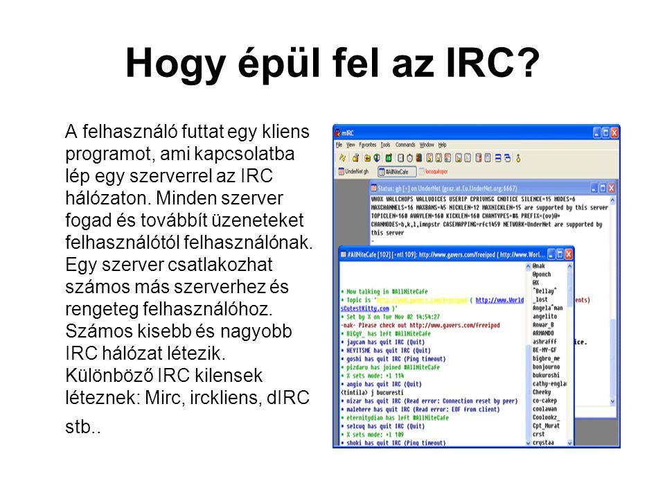 Hogy épül fel az IRC