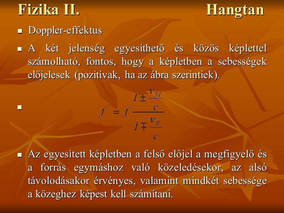Fizika II. Hangtan Doppler-effektus