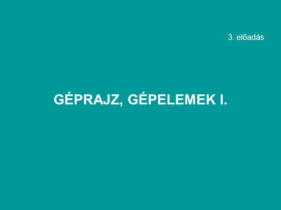 3. előadás GÉPRAJZ, GÉPELEMEK I.