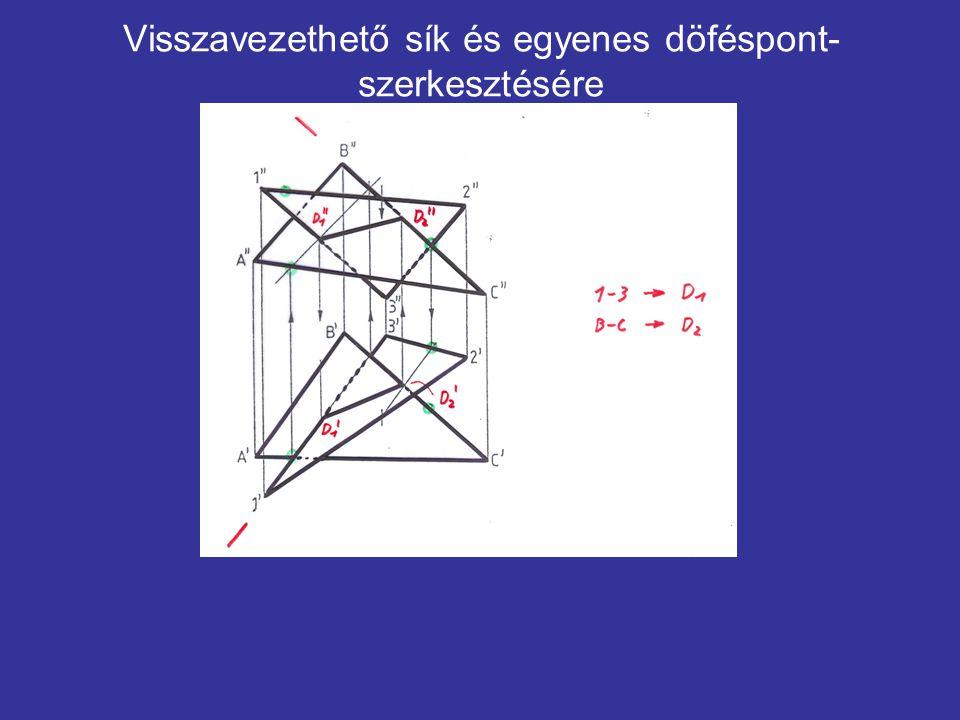 Visszavezethető sík és egyenes döféspont-szerkesztésére